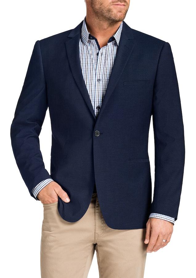 tarocash male tarocash duke textured 1 button jacket blue xxxl