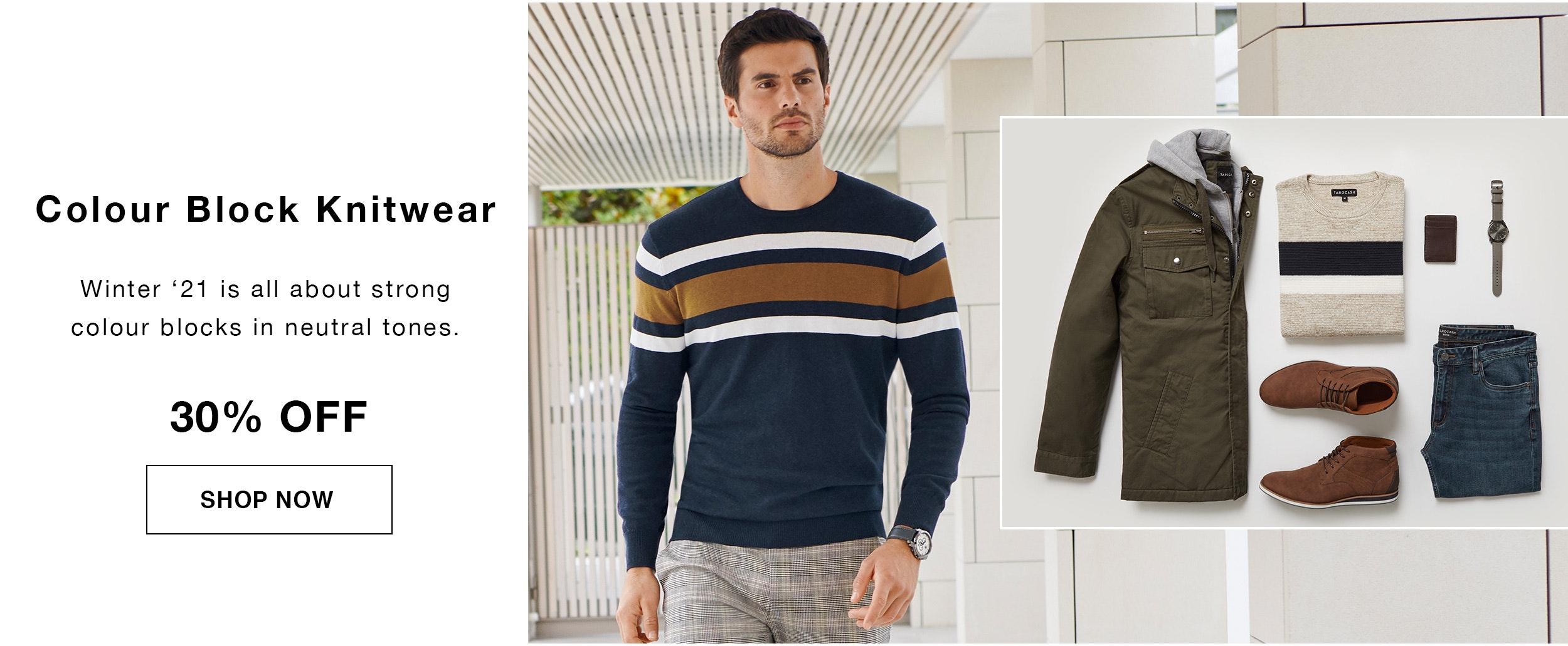Shop Colourblock Knitwear