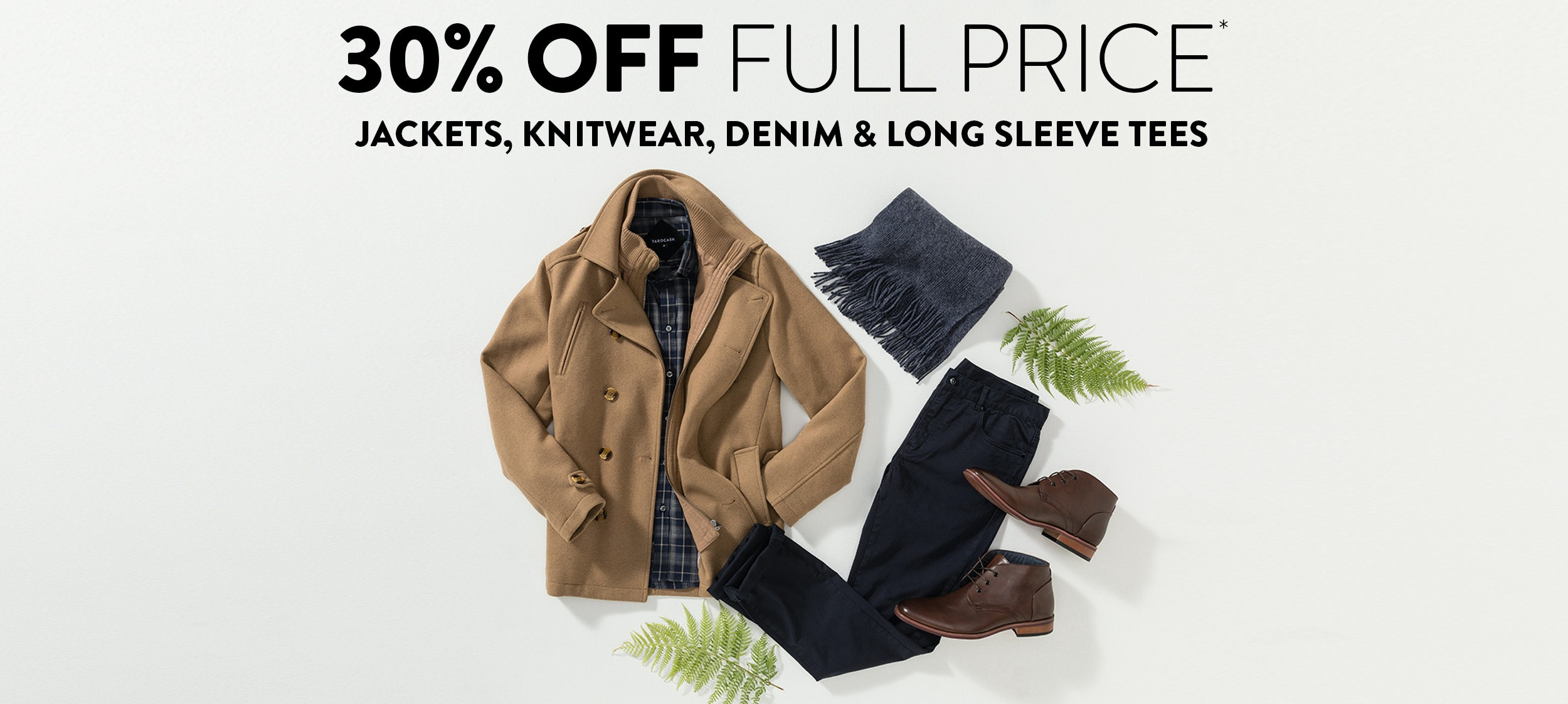 30% off Winter categories