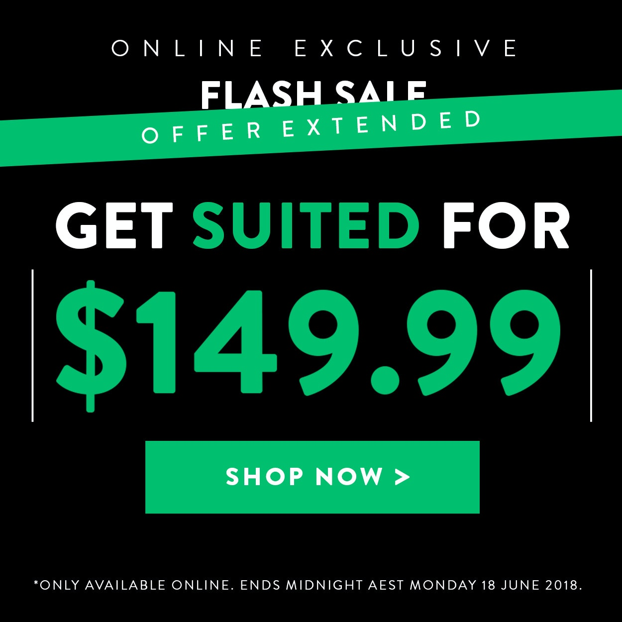 149.99 Mystery Suit Offer