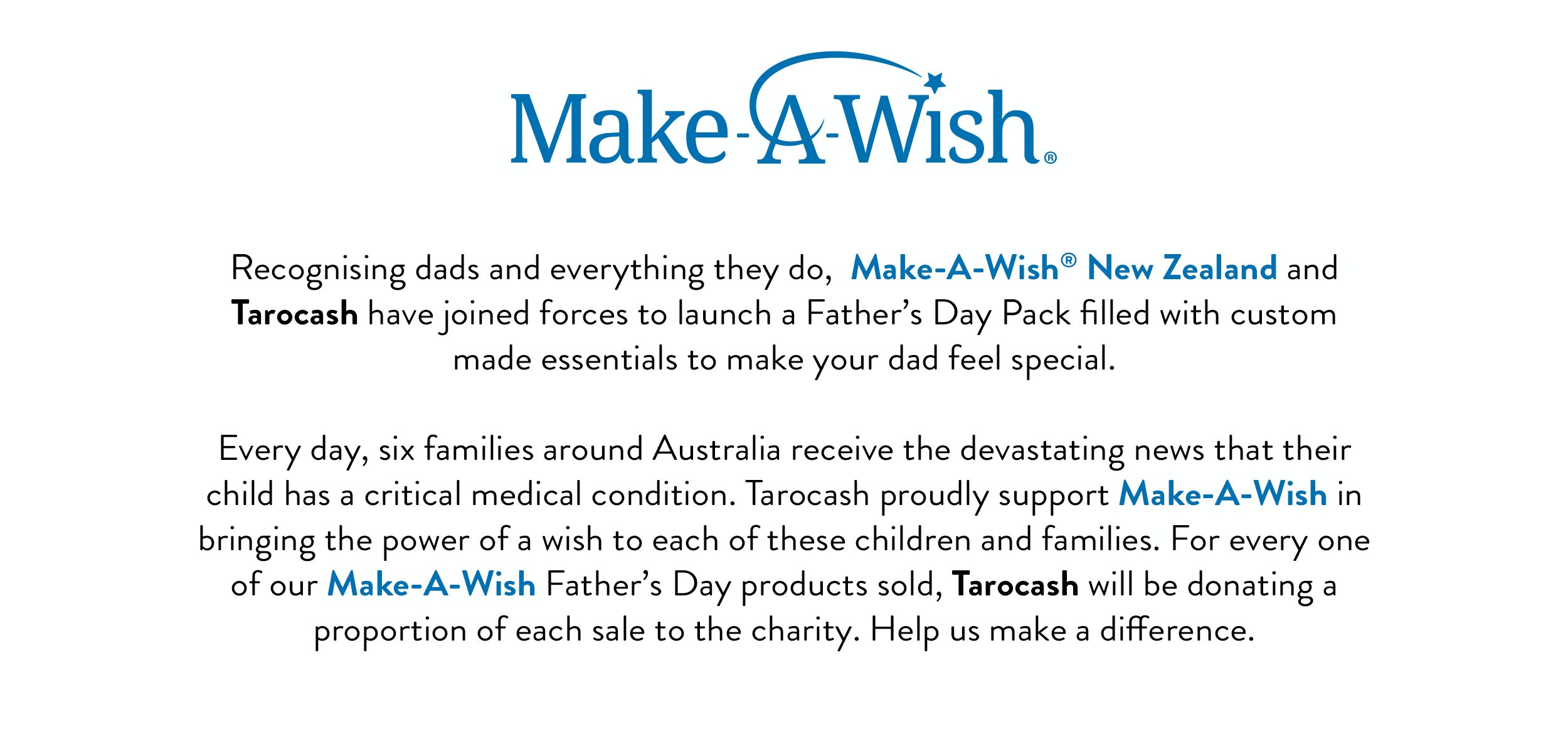 Make-a-Wish recognising Dads and everything they do