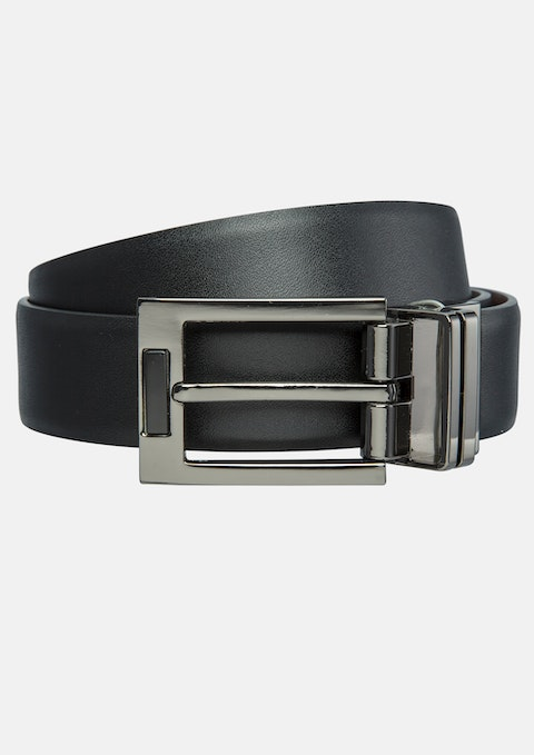 Black / Tan Peaks Reversible Belt