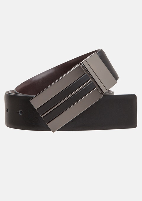 Black/brown Driver Reversible Belt
