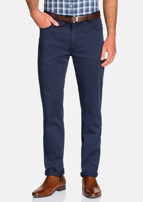 Blue Benny Stretch 5 Pkt Chino Pant