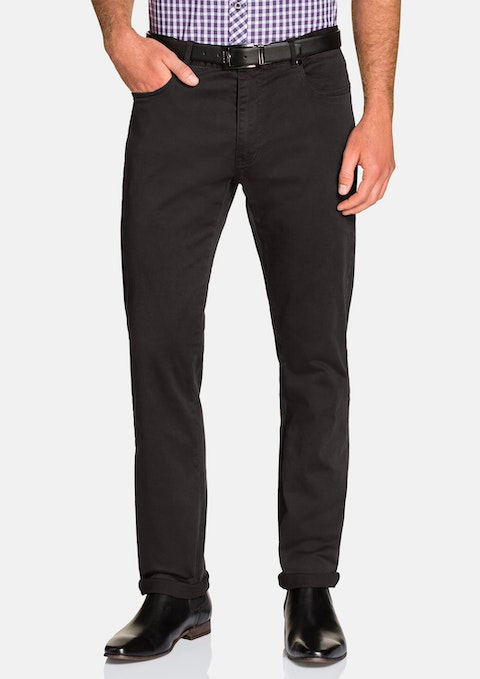 Charcoal Benny Stretch 5 Pkt Chino Pant
