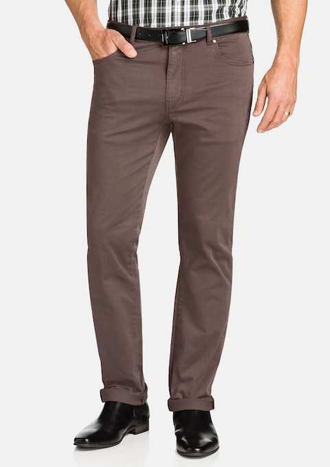 Khaki Benny Stretch 5 Pkt Chino Pant