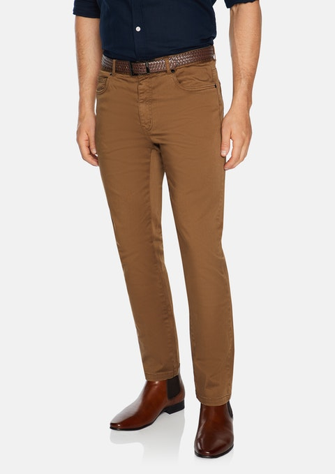 Mustard Benny Stretch 5 Pocket Pant