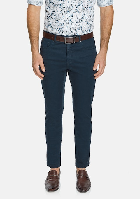 Navy Benny Stretch 5 Pocket Pant