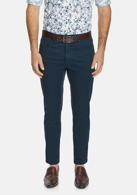 Navy Benny Stretch 5 Pkt Chino Pant