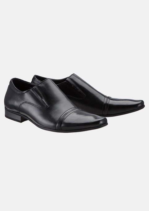 Black Bourbon Slip On Shoe