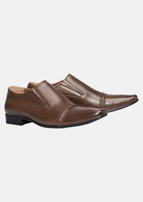 Brown Bourbon Slip On Shoe