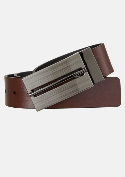 Black Cognac Radcliffe Reversible Belt
