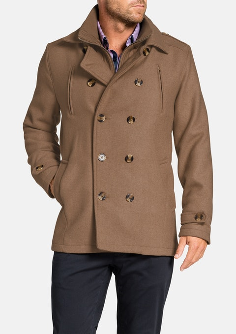 Camel Jez Db Melton Coat