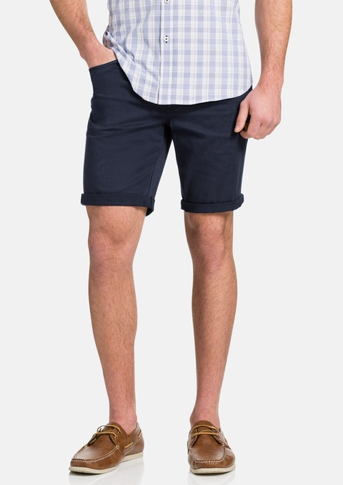 Blue Benji Stretch Short