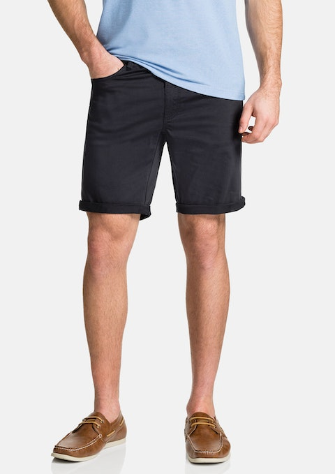 Navy Benji Stretch Short