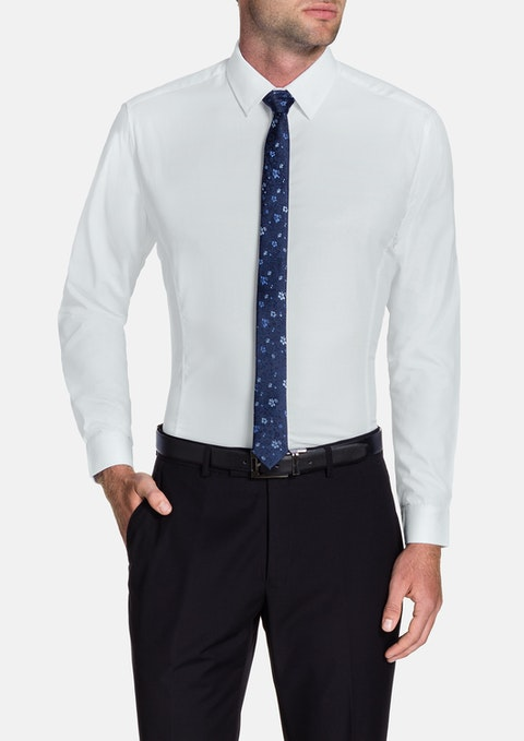 White Beckham Slim Shirt