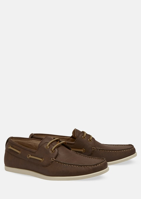 Chocolate Cain Boat Shoe