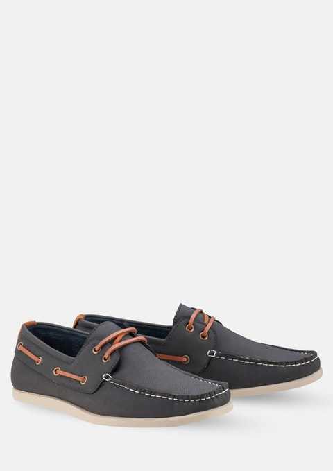 Navy Cain Boat Shoe