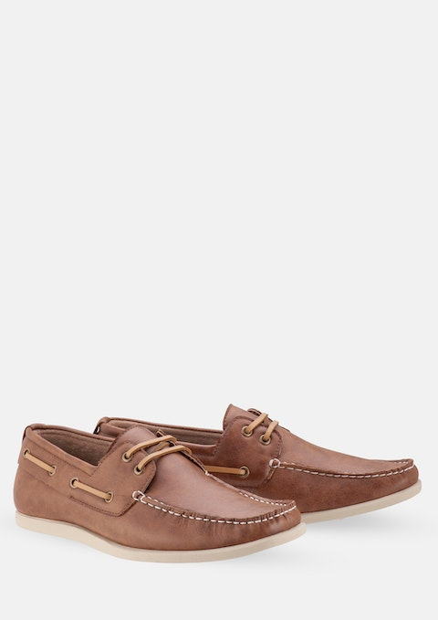 Tan Cain Boat Shoe