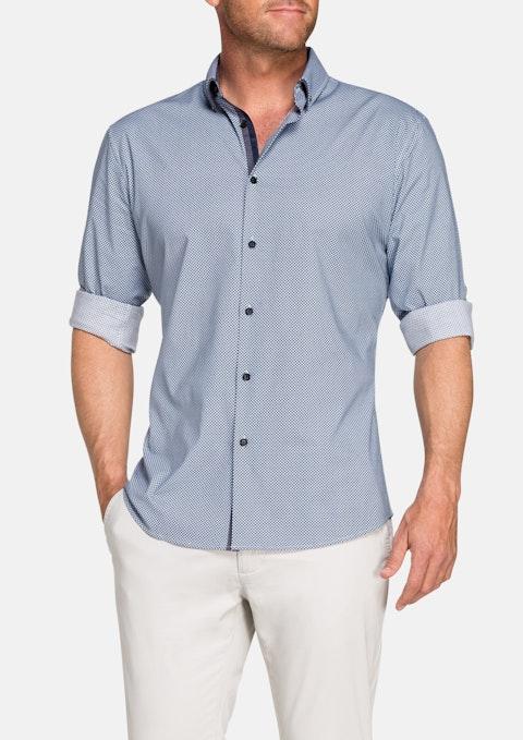 Charcoal Alex Diamond Slim Print Shirt