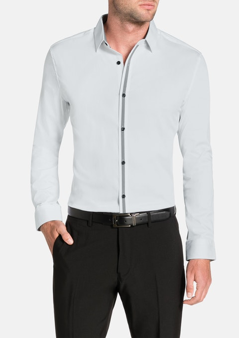 White Ellington Slim Stretch Shirt