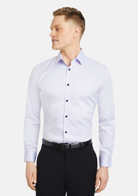 Lilac Linton Stretch Non Iron Shirt