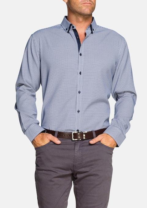 Navy Osborne Jacquard Shirt