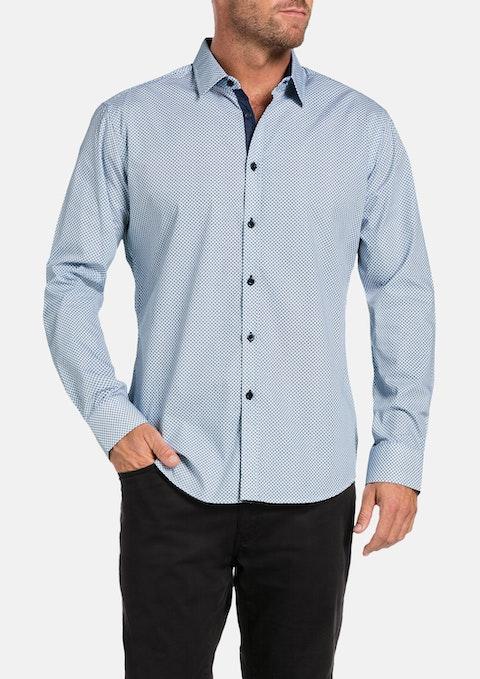 Aqua Beacon Print Shirt