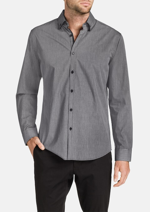 Charcoal Morley Stripe Shirt