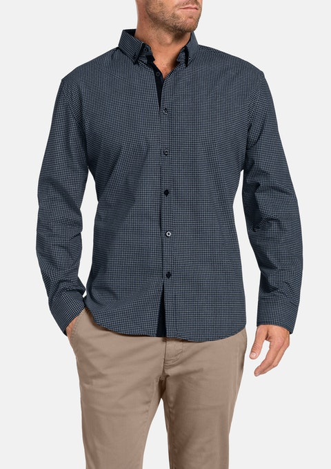 Navy Aspen Print Shirt