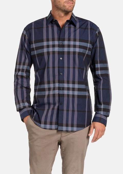 Navy Rothwell Check Shirt