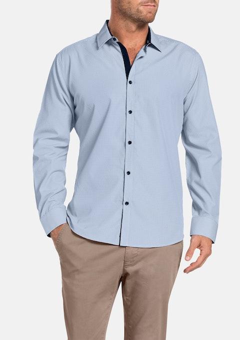 Navy Bishop Check Shirt