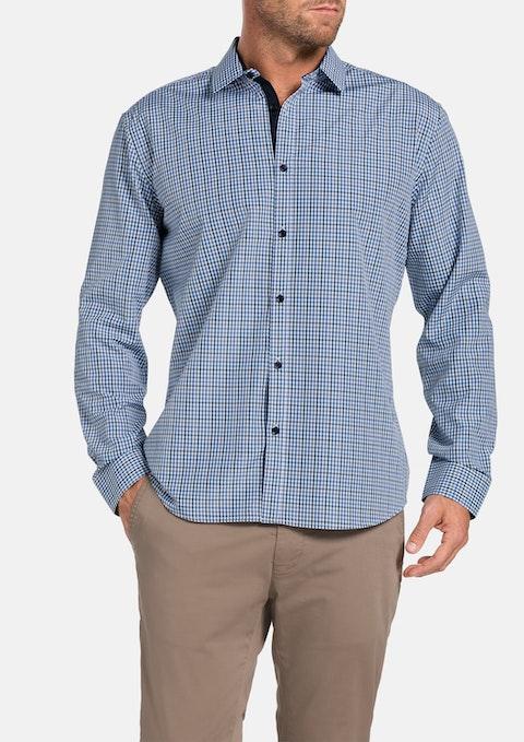 Navy Powell Check Shirt
