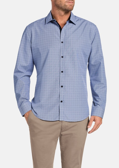 Blue Morgan Check Shirt