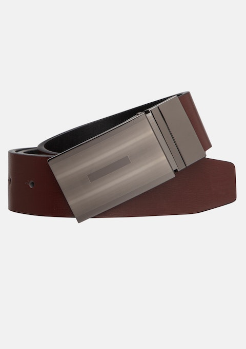 Choc/black Richard Reversible Belt