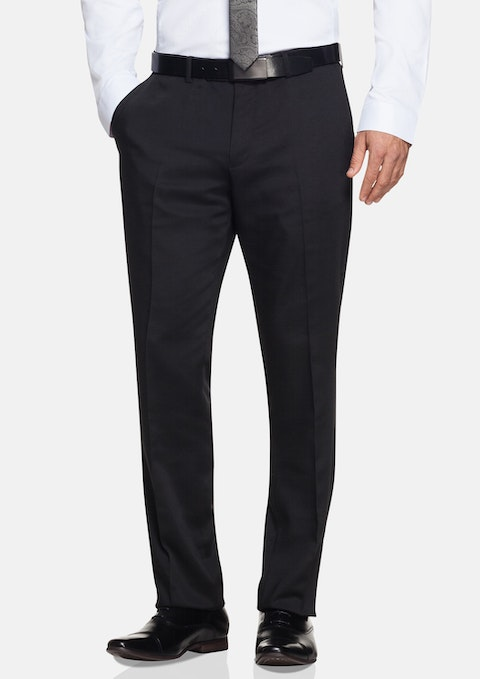 Black Welbeck Textured Pant