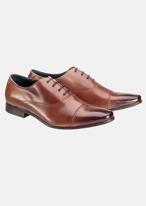 Tan Cosmo Lace Up Shoe