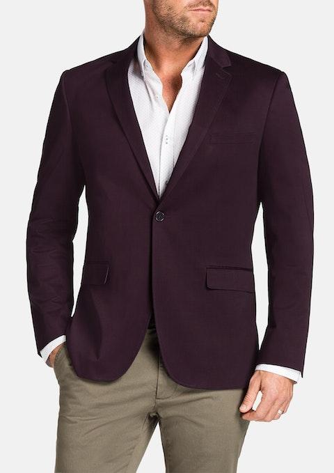 Burgundy Garrett Stretch Jacket
