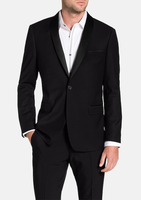 Black Cole Shawl Collar Jacket