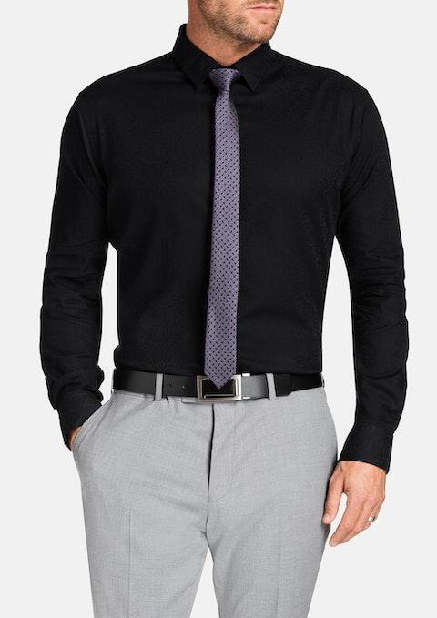 Black Highbury Paisley Shirt