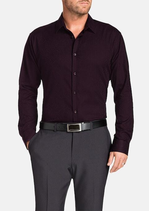 Burgundy Highbury Paisley Shirt