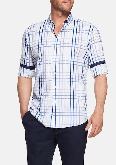 Navy Tyrion Check Shirt