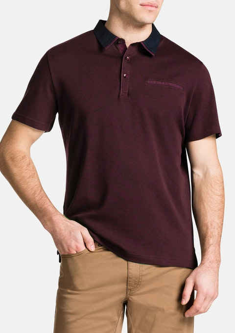 Burgundy Brighton Polo