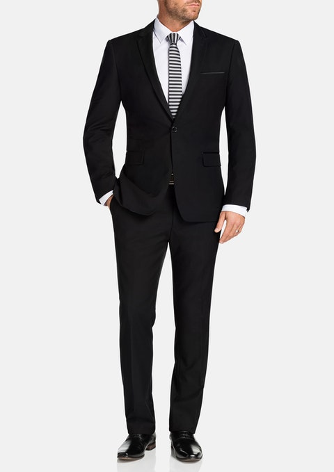 Black Gibson Trim Suit