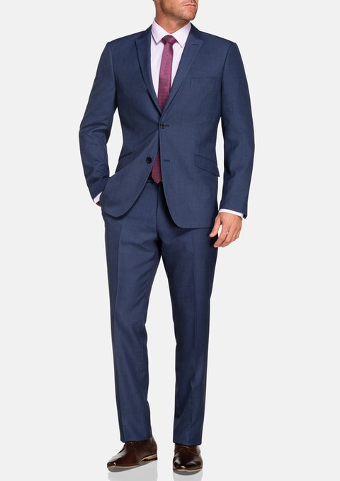 Blue Garrick 2 Button Suit