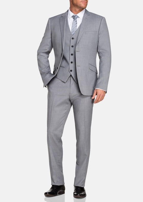 Silver Ramsey Stretch 2 Button Suit