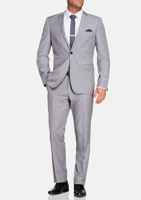 Silver Maxwell 1 Button Suit