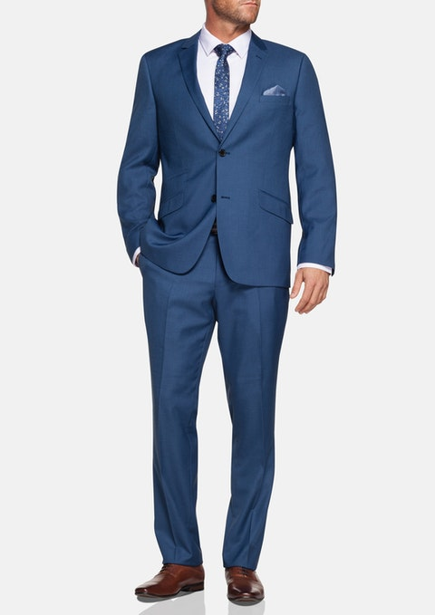 Blue Epworth 2 Button Suit