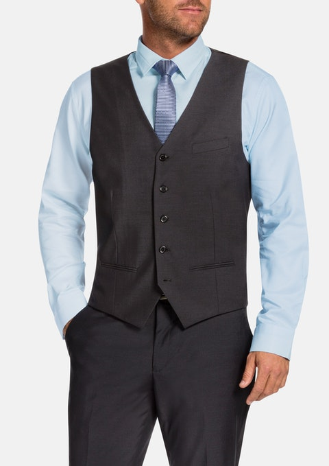 Charcoal Cable Waistcoat