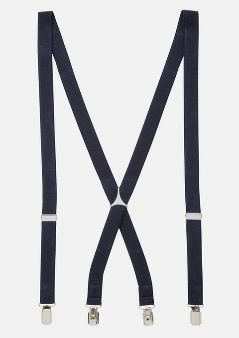 Navy Plain Suspenders